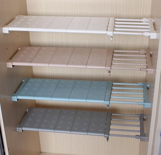 Details About Expandable Shelf Closet Organizer Storage Bar Clothes Adjule Rack Hanger Rod