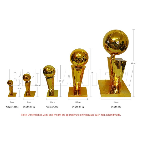 NBA Championship Trophy Replica New O'brien National Basketball Association Gift | eBay