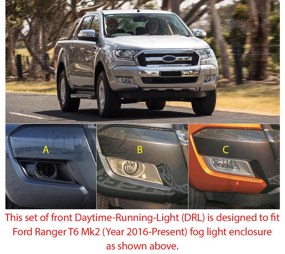 Led Daytime Running Light Drl Drive Lamps For Ford Ranger