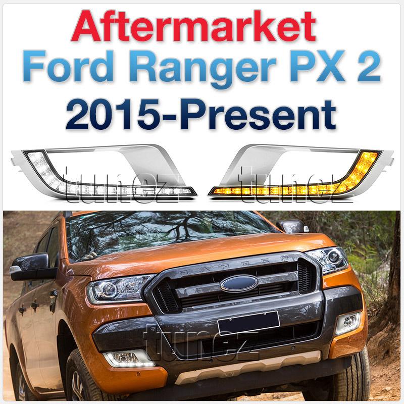 Rectangular Ford Ranger MK2 Wildtrak 2015-17 LED DRL Daylight Fog Lamp Indicator