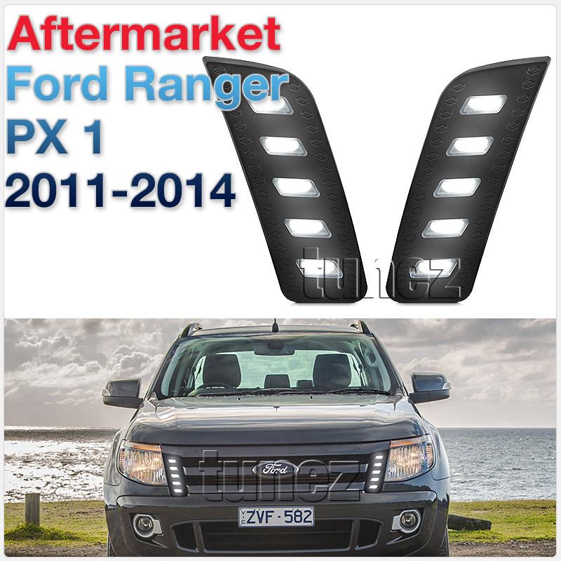 Daytime Running Light DRL For Ford Ranger T6 PX MK1 2011-2014 Bar Pair White LED