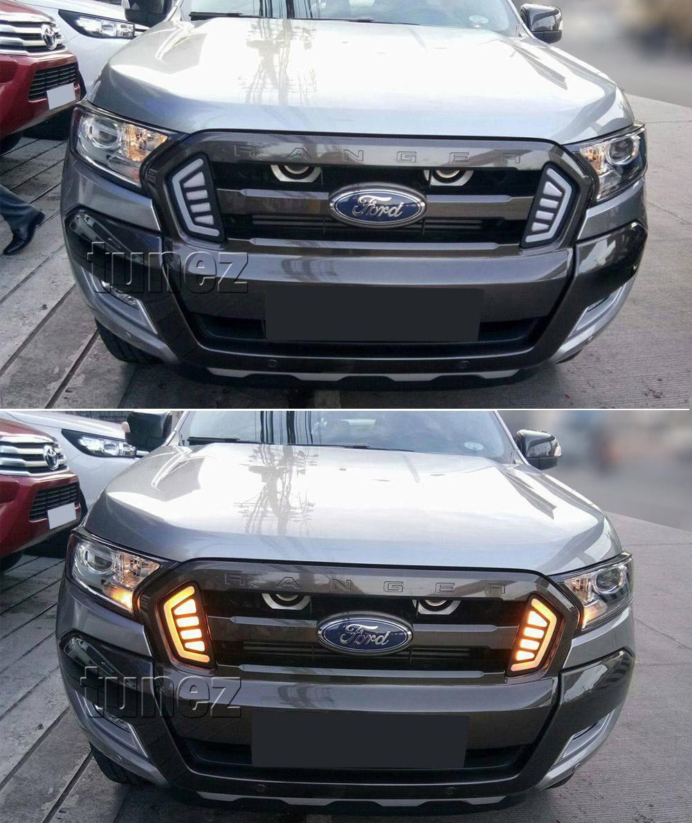 Led Daytime Running Light Drl Drive Lamps Day Ford Ranger