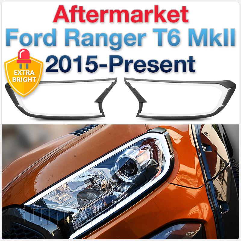 Ford Ranger T6 Mk2 LED Guide Light Matt Black Wildtrak XL XLS XLT DRL Car OZ