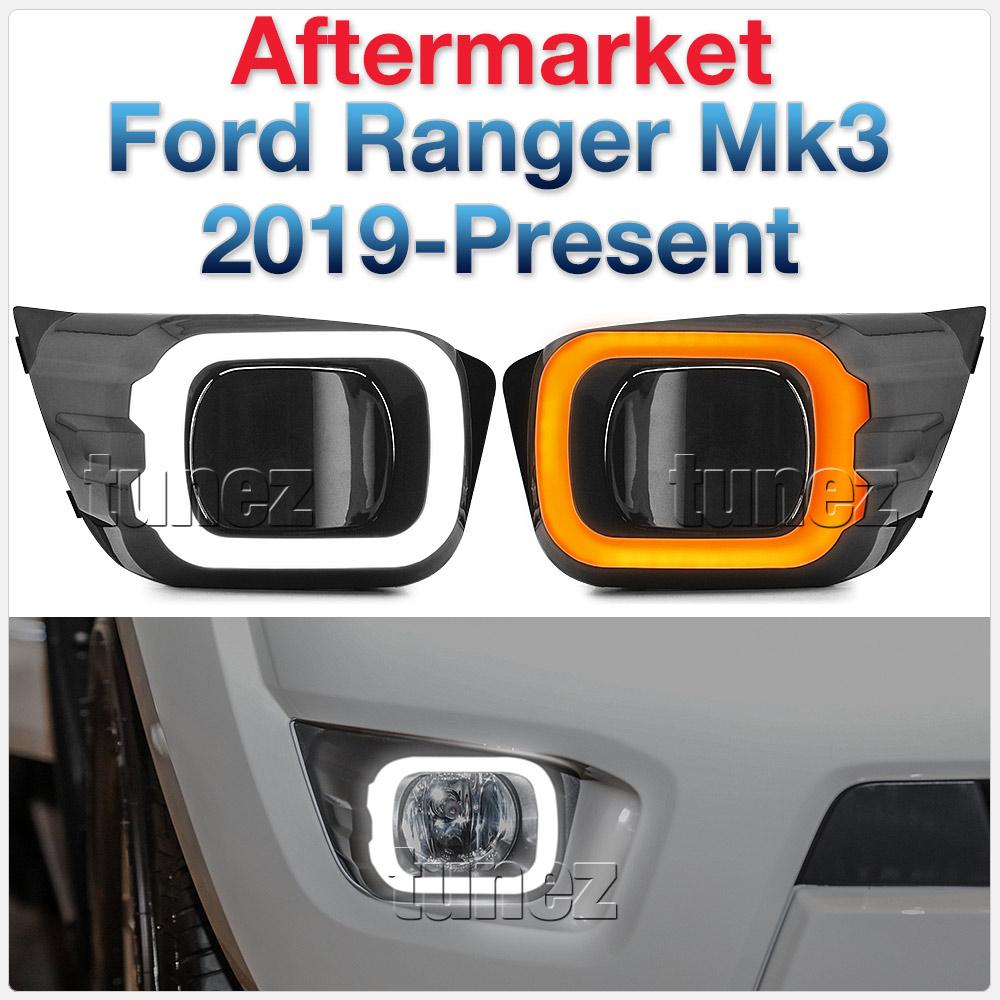 NEW LED DRL Daylight Ford Ranger T6 PX MK3 2019 2020 Fog Lamp Kit Turn Signal