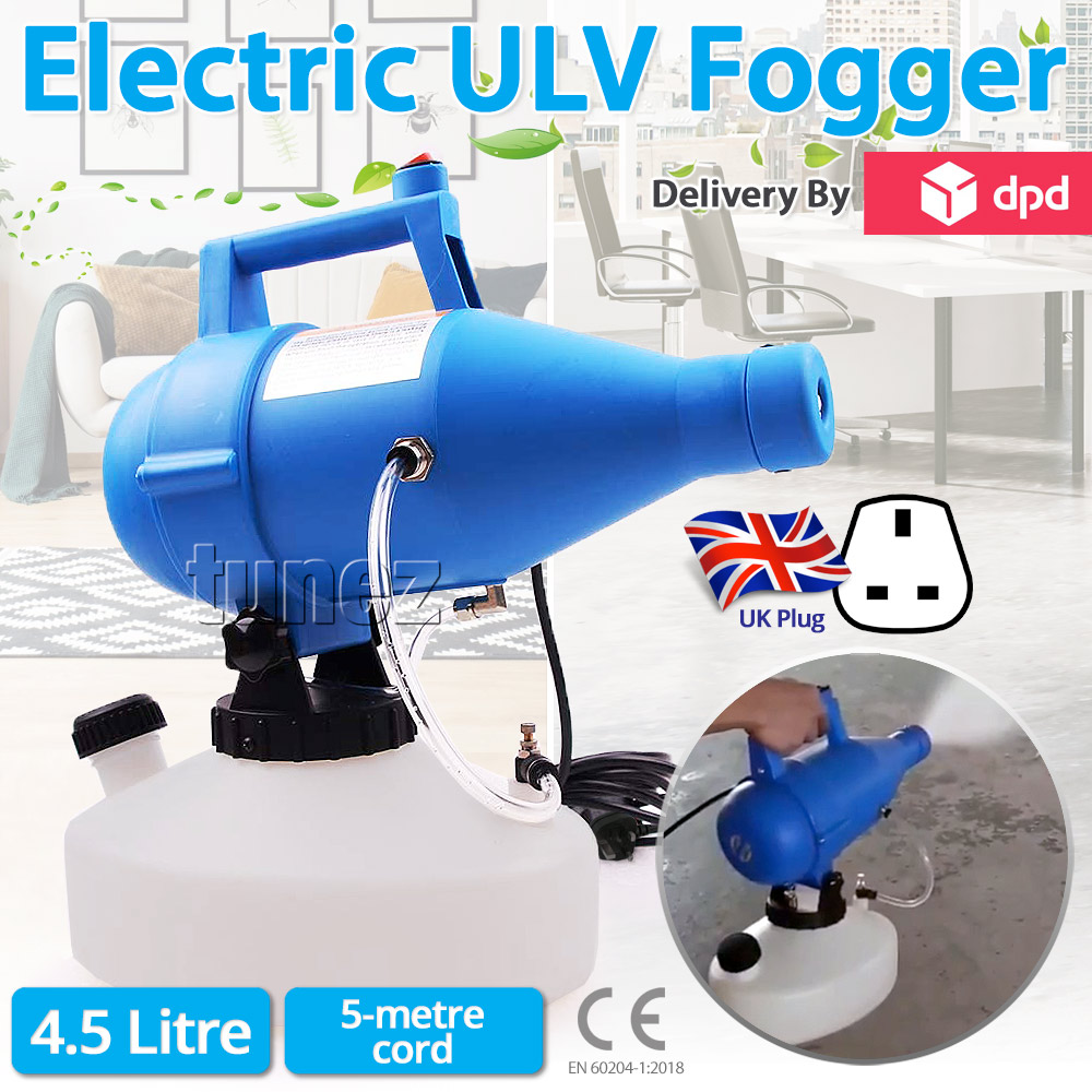 Electric Ultra Low Volume (ULV) Disinfectant Fogger Sprayer (UK Plug)