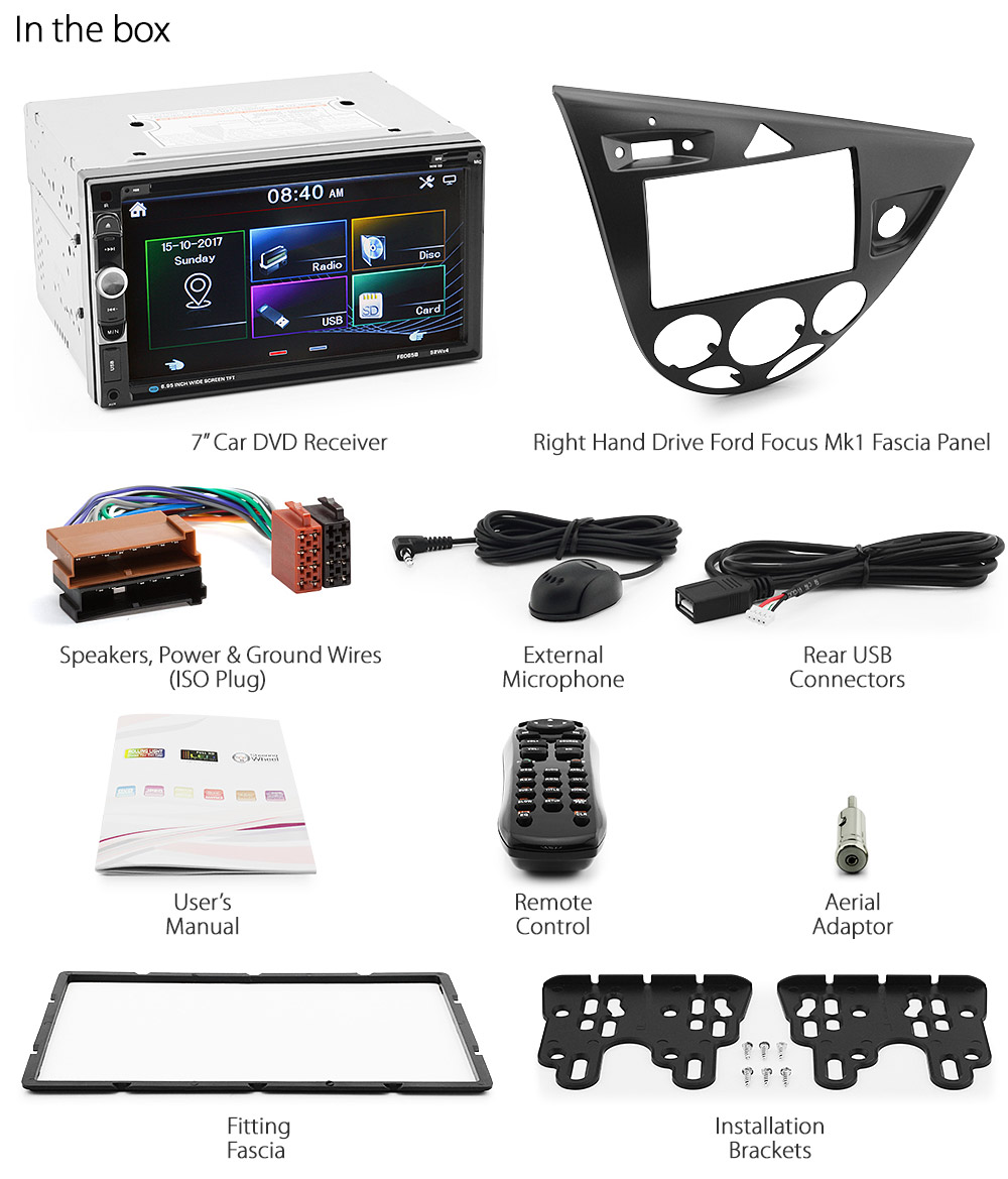 Chassis Wiring Channel Guide And Troubleshooting Of Diagram 1946 Willys Jeep Ford Focus Mk1 1998 2004 Car Dvd Usb Player Head Unit Radio Stereo Fascia Kit Gt Ebay Spartan 2005