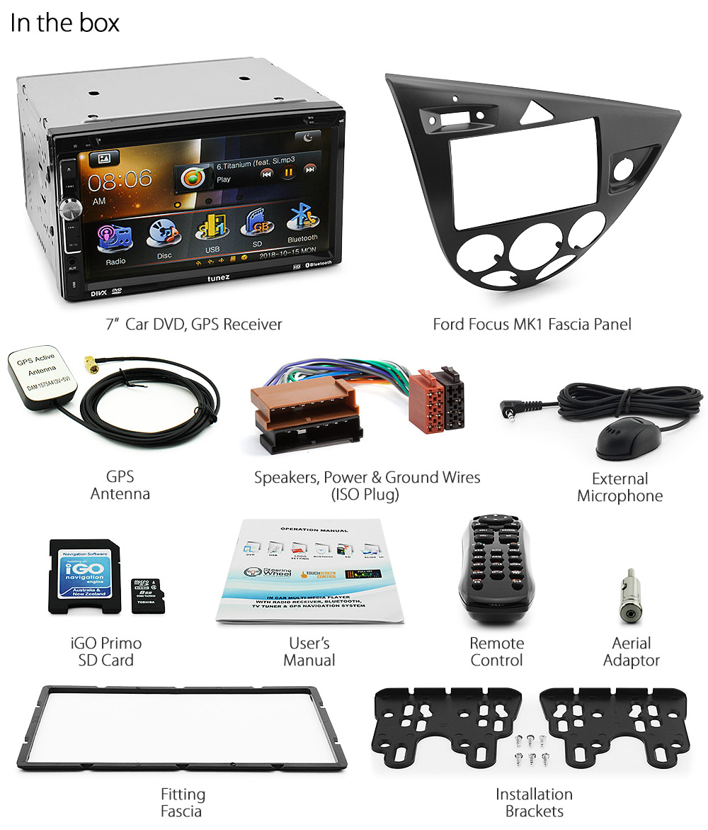 ford focus mk1 car dvd player gps stereo head unit radio dual car stereo wiring diagram