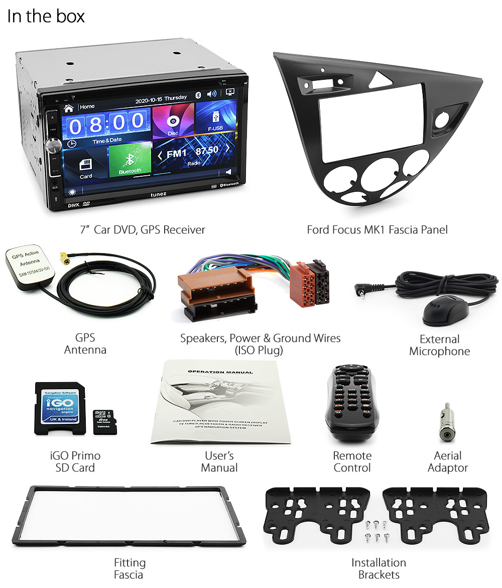 ford focus mk1 1998 2004 car dvd gps player head unit navi. Black Bedroom Furniture Sets. Home Design Ideas