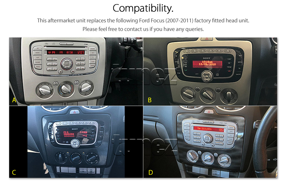android car mp3 player ford focus 2007 2011 stereo radio. Black Bedroom Furniture Sets. Home Design Ideas