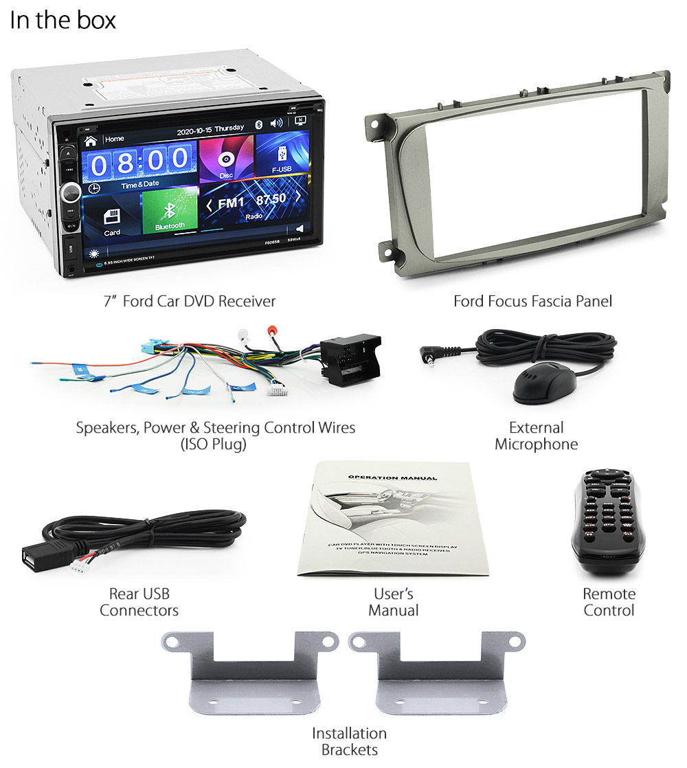 Car Dvd Player For Ford Focus Mk2 2009 2010 2011 Radio