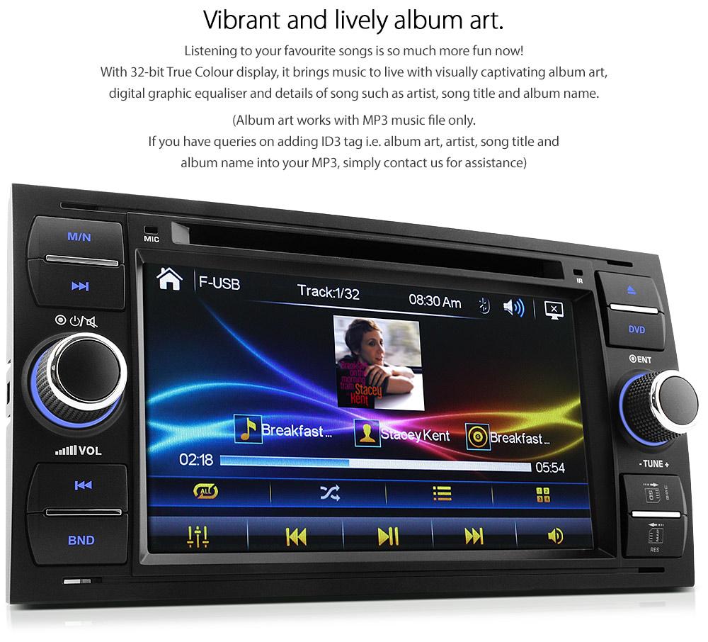 Car DVD Player Radio USB For Ford Focus Transit C S Max