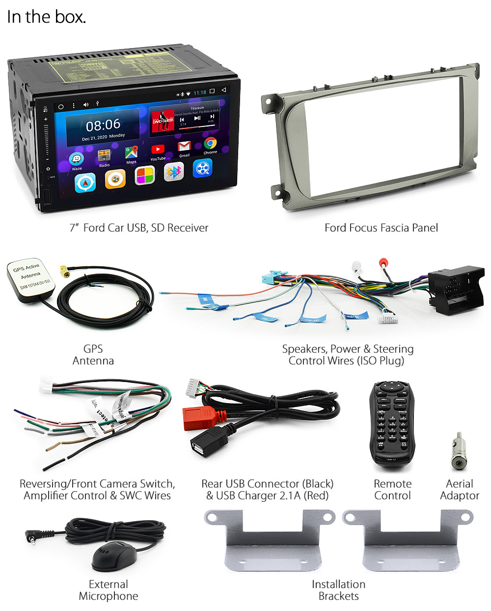 Android Car Mp3 Mp4 Player For Ford Focus 2007