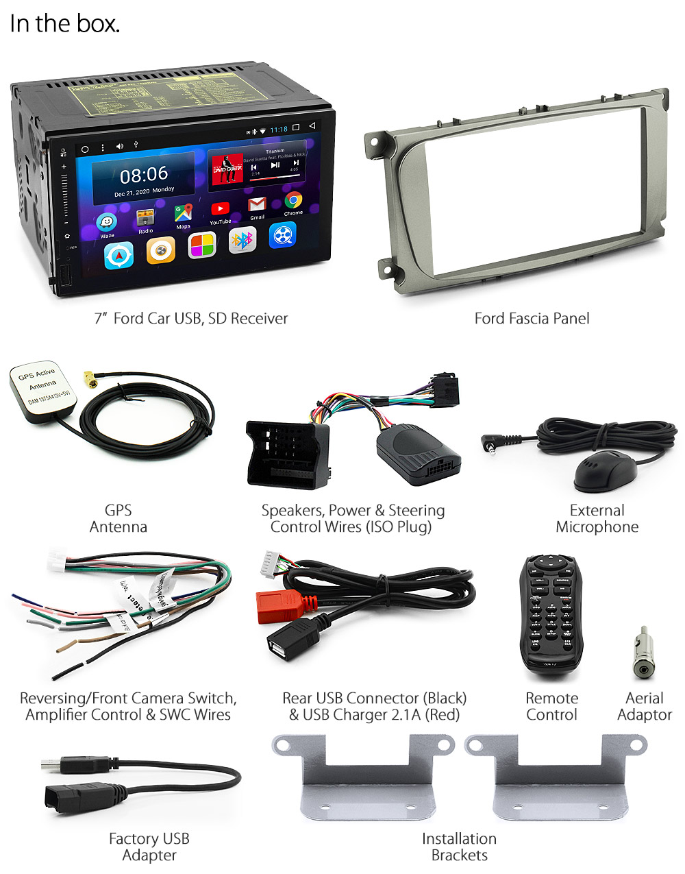 Android Car Mp3 Player Ford Mondeo Focus Stereo Radio Head