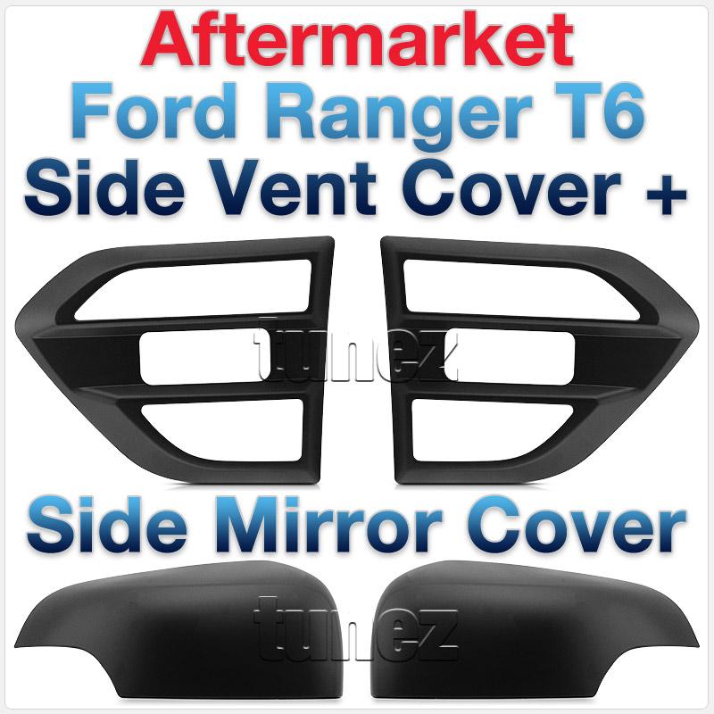 Ford Ranger MK2 MK3 T6 2015 2016 2017 Matte Black Side Mirror Vent Lamp Cover 3M