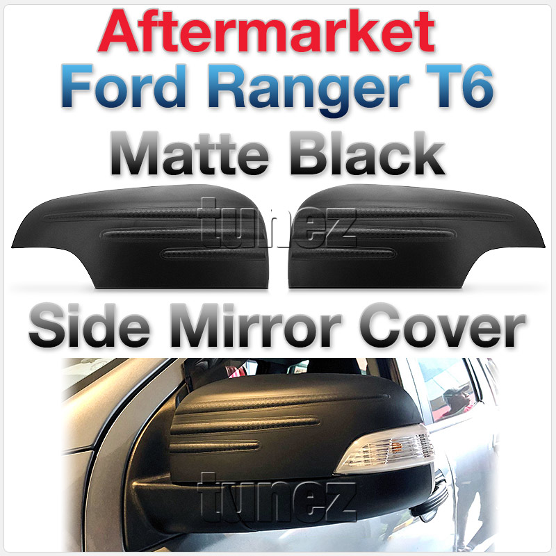 Black Side Mirror Lamp Cover For Ford Ranger Everest PX T6 2012 2013 2014 2015