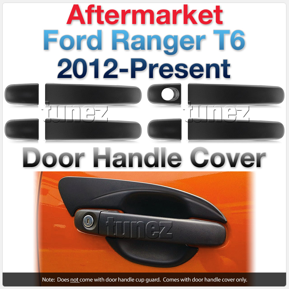 Manual Matt Key Door Handle Cover For Ford Ranger T6 PX MK1 MK2 MK3 XL XLT Tunez