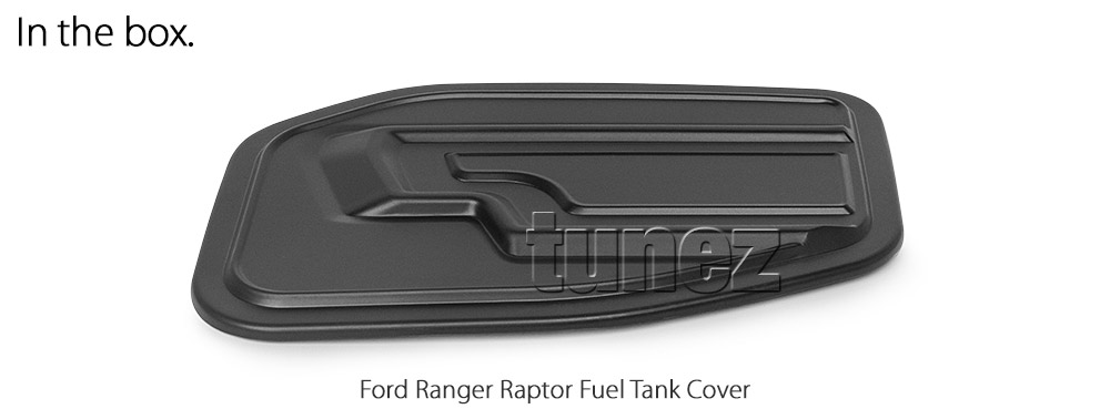 FRM20 Ford Ranger T6 PX Raptor Ute 2.0 TDCi Bi-Turbo Bi Turbo Matte Matt Black Petrol Oil Gas Fuel Tank Door Cover ABS Plastic Frame Mask 3M For Car Truck Aftermarket Year 2018 2019 2020 2021 Australia UK European USA tunez