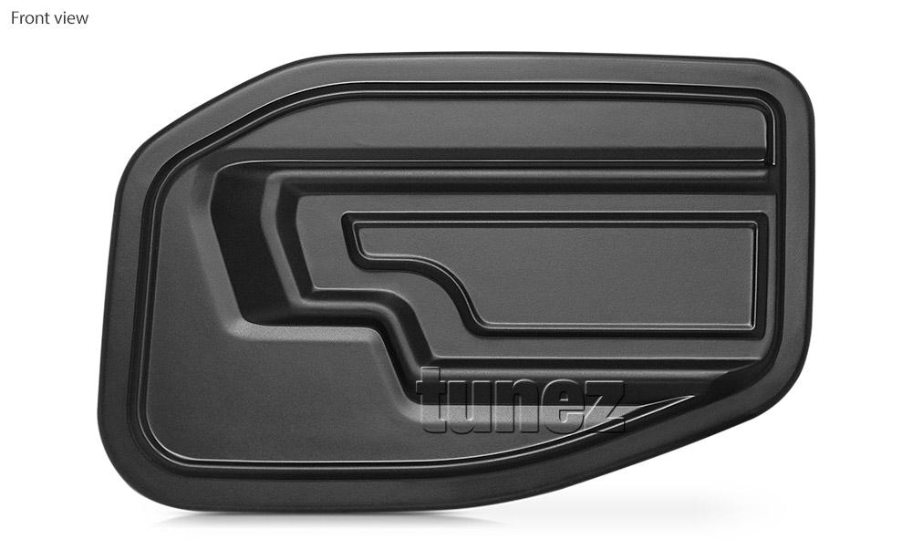 Fuel Gas Petrol Tank Door Matte Black Cover Car For Ford Ranger Raptor 2018 2019