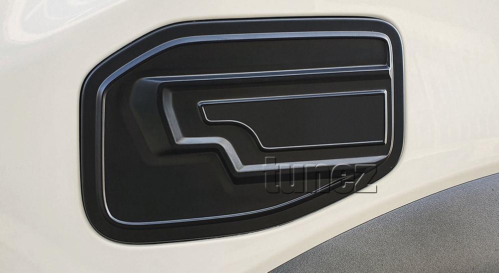 FRM20 Ford Ranger T6 PX Raptor Ute 2.0 TDCi Bi-Turbo Bi Turbo Matte Matt Black Petrol Oil Gas Fuel Tank Door Cover ABS Plastic Frame Mask 3M For Car Truck Aftermarket Year 2018 2019 2020 2021 Australia UK European USA tunez