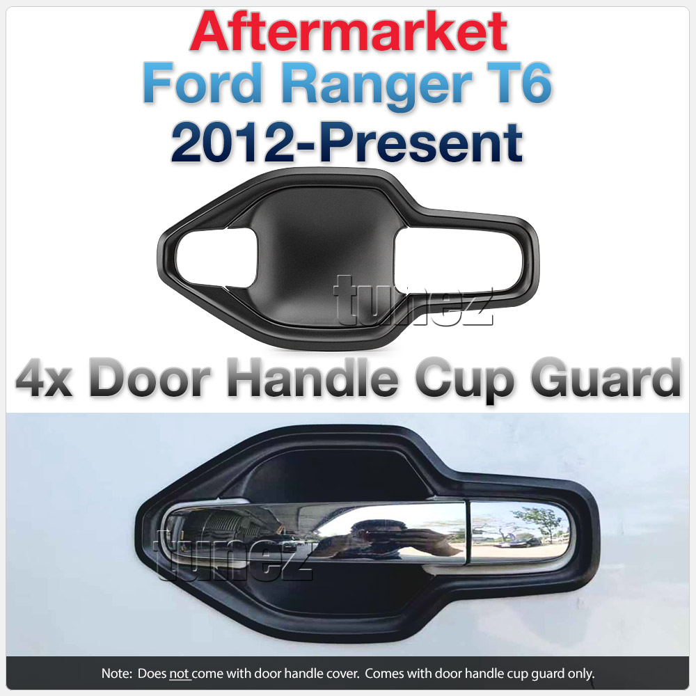 Door Handle Cup Guard Cover For Ford Ranger T6 PX XL XLT XLS Raptor Wildtrak OZ