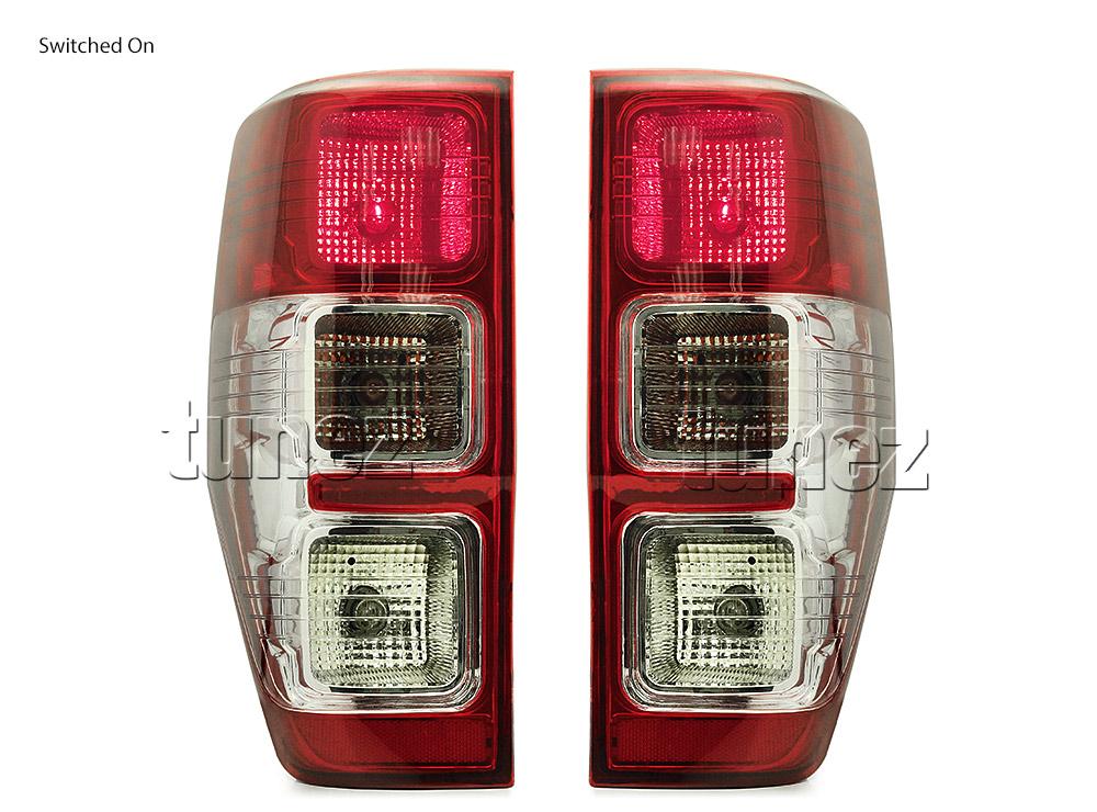 Red Lens Tail Light Rear Lamp Pair For Ford Ranger T6 MK1 MK2 PX2 XLT 2012-2018