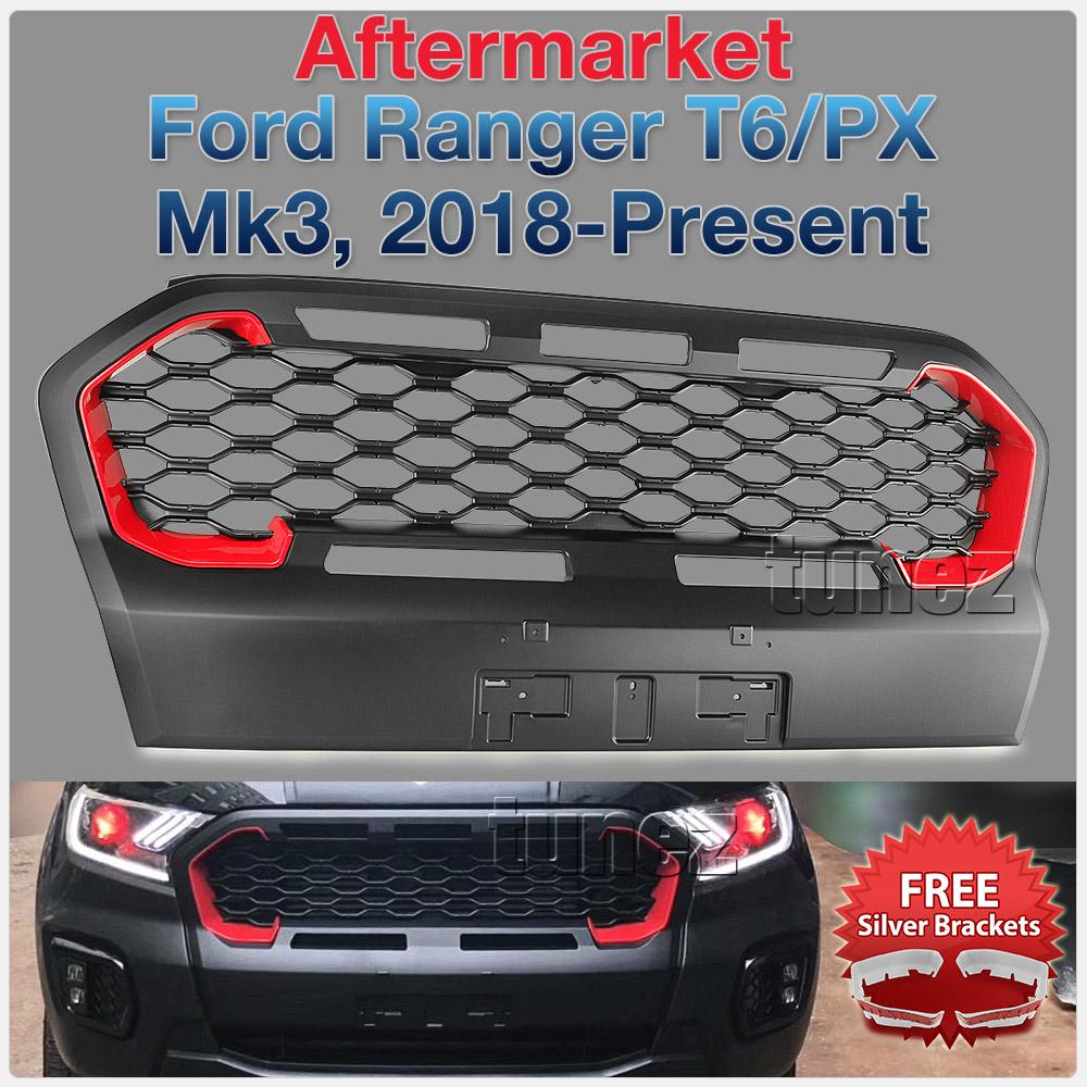 Matt Black Grille For Ford Ranger Wildtrak MK3 T6 PX 3 Matte Grill Front Mesh OZ