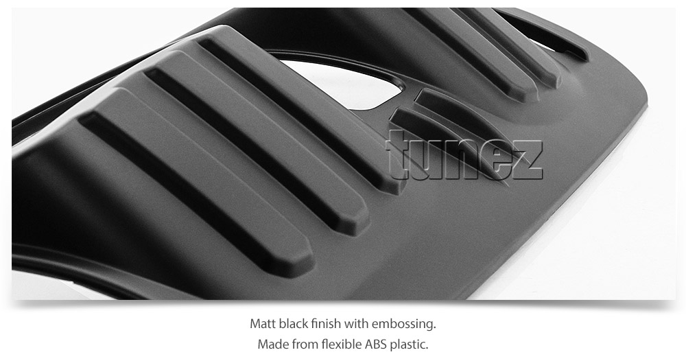 Holden Colorado RG MK2 Tail Rear Light Lamp Cover Matte Black Pair 2016-2019 OZ