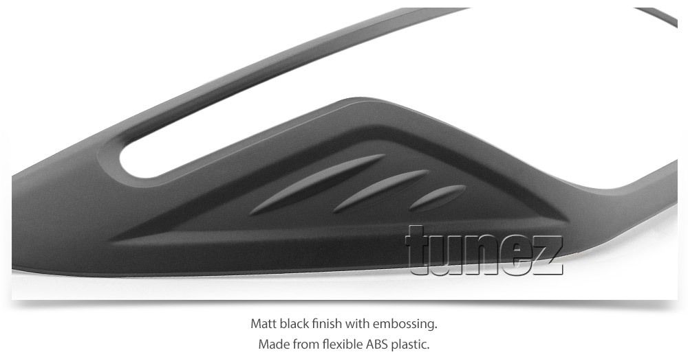 Matte Black Front Head Lamp Rear Tail Light Cover Holden Colorado RG 2016-2019 Z