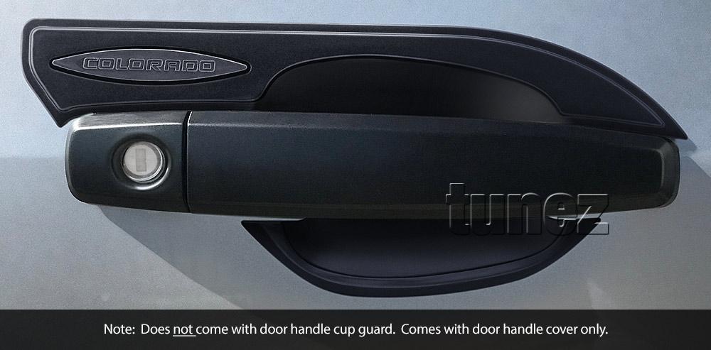 Matt Black Remote Key Door Handle Cover Guard For Holden Colorado RG 2013 2014 Z