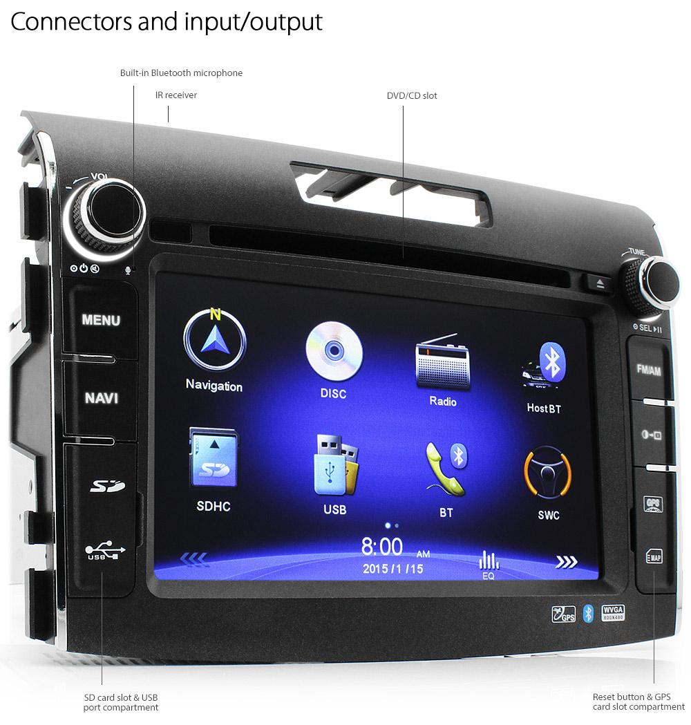 7 honda crv car dvd gps player head unit radio sat nav. Black Bedroom Furniture Sets. Home Design Ideas