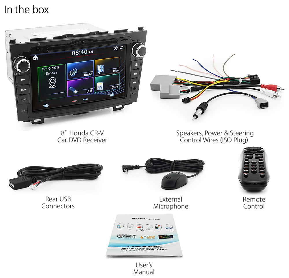 8 Car Dvd Mp3 Player For Honda Cr V Crv Stereo Radio Head Unit 2007 Ford Fusion Aftermarket Ss06dvd Inch Suzuki Swift Year 2005 2006 2008 2009 2010 Rs