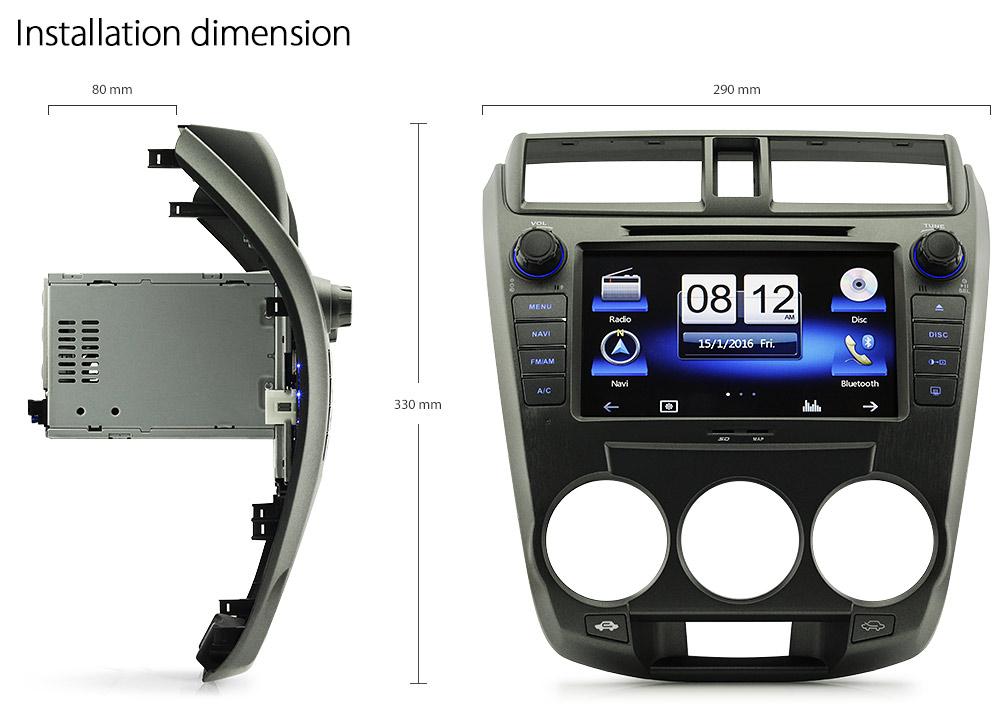 8 U0026quot  Honda City Car Dvd Gps Player Stereo Radio Radio Sat Nav Usb Sd Mp3 Head Unit