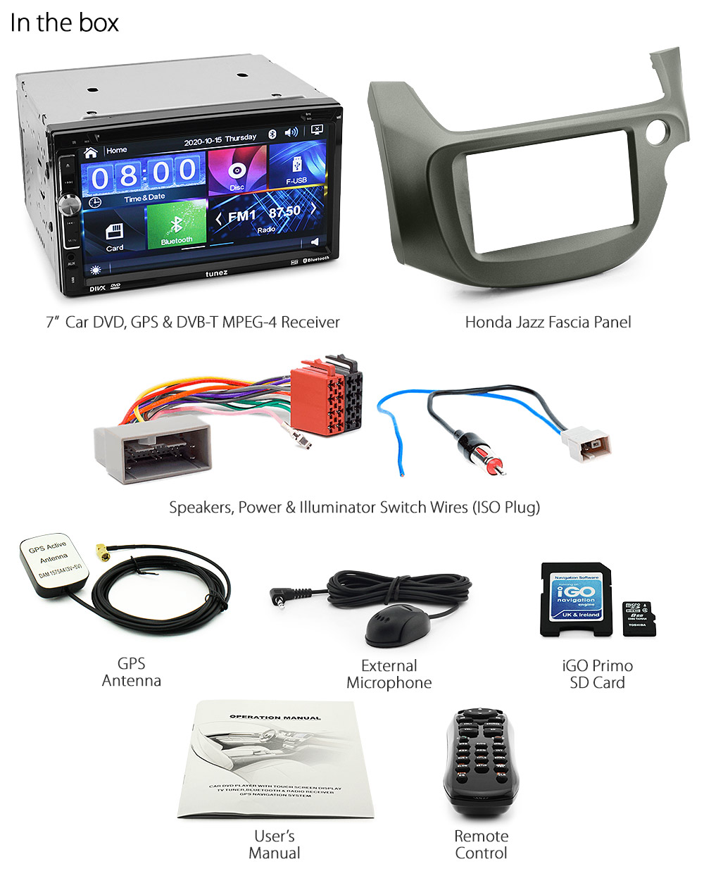 Honda Jazz Fit Ge Car Dvd Gps Mp3 Player Usb Stereo Radio Digital Tv