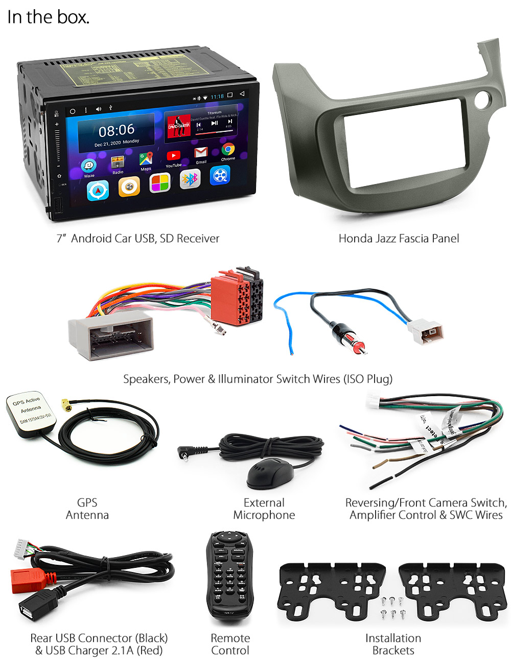 Honda Jazz Fit Ge8 Android Car Radio Stereo Bluetooth 2010