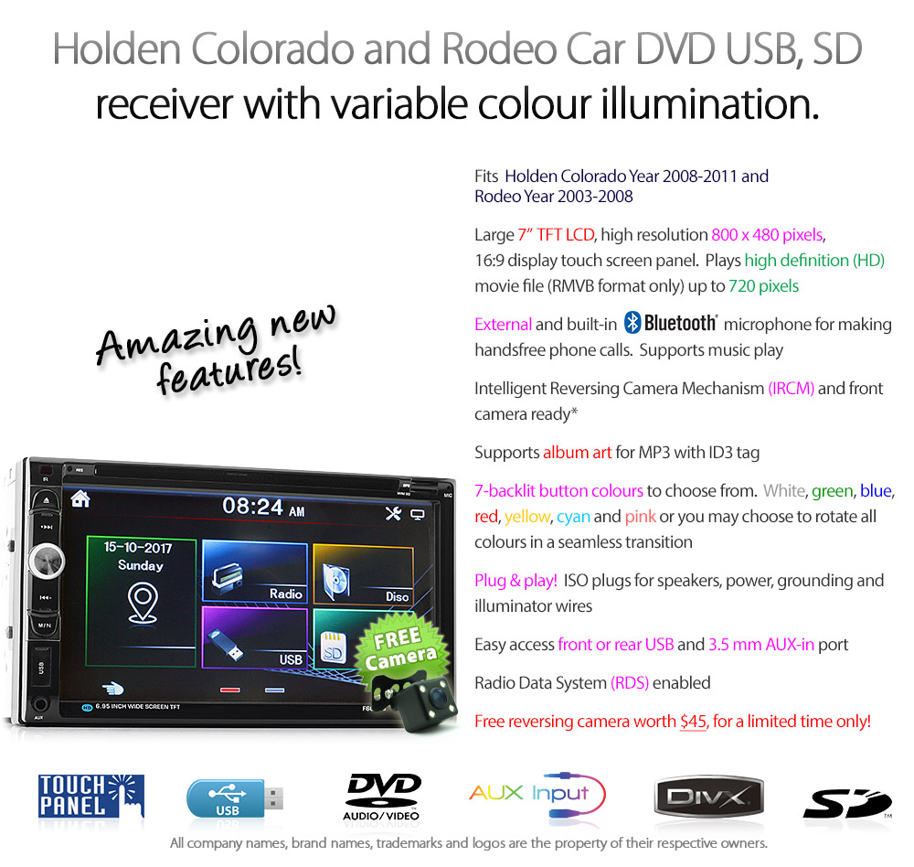 Car Dvd Mp3 Player Holden Colorado Rodeo Cd Stereo Radio
