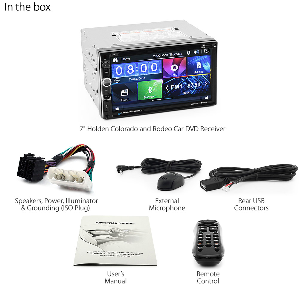 Car Dvd Player For Holden Colorado Rodeo Ra Rc Stereo