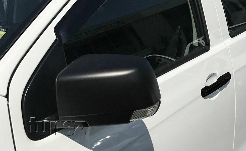 IDM03 Holden Colorado 7 SUV Chevrolet Colorado Isuzu D-Max Side Mirror Cover Guard Protector ABS Trim Generation Gen RG 2012 2013 2014 2015 2016 2017 2018 2019 LT LTZ LS LSX Z71 Matt Matte Material Black OEM Fitting Aftermarket