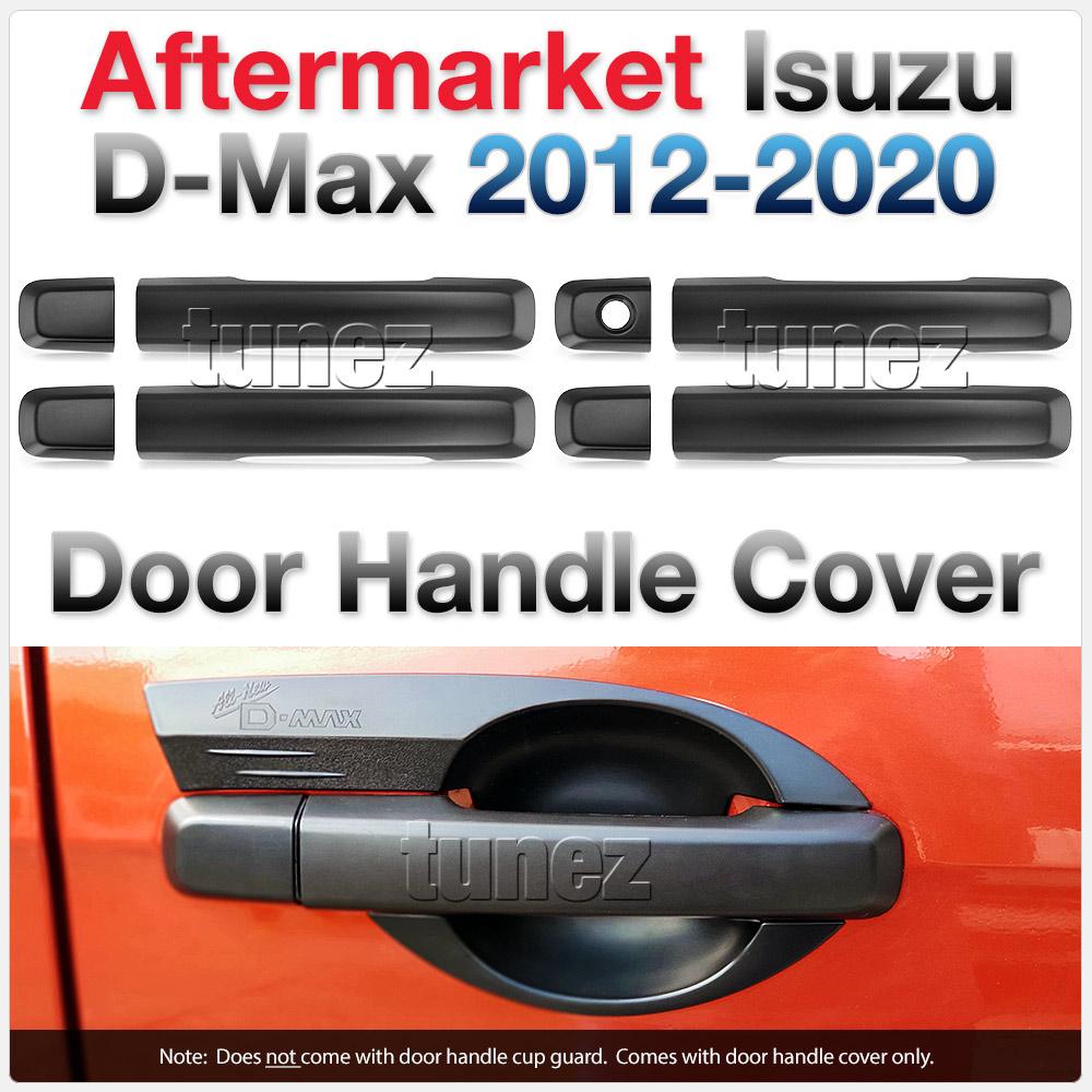 Matte Matt Black Key Door Handle Cover For Isuzu D-Max DMax RT50 RT85 MUX MU-X