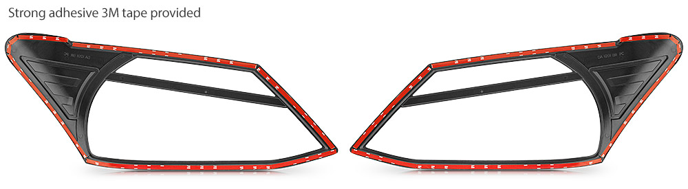Front Tail Rear Light Headlight Black Cover Isuzu D-Max 2014 2015 2016 RT50 DMax