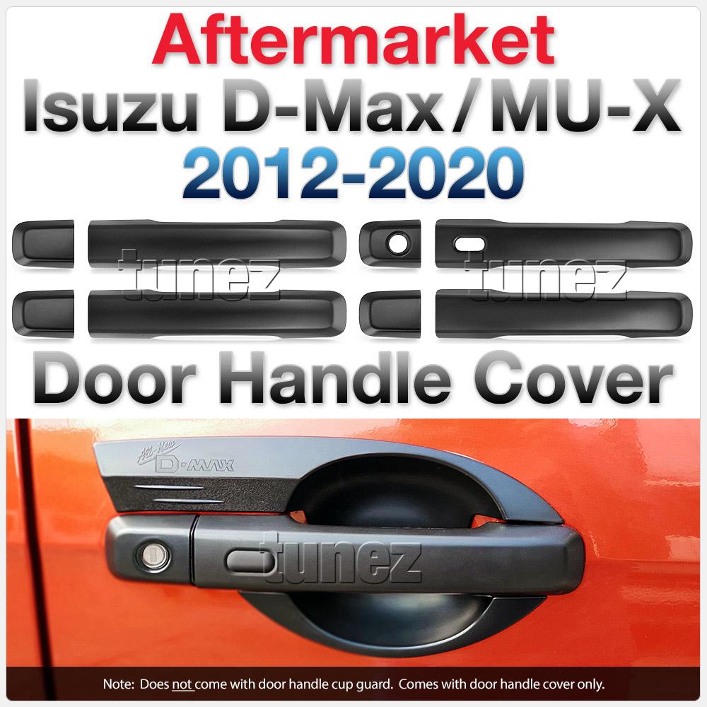 Matt Black Keyless Smart Door Handle Cover For Isuzu D-Max DMax RT50 RT85 MUX OZ