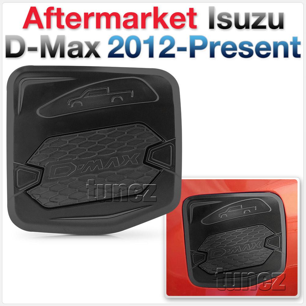 Petrol Fuel Oil Tank Door Cover Black For Isuzu DMax D-Max RT50 RT85 2012-2019