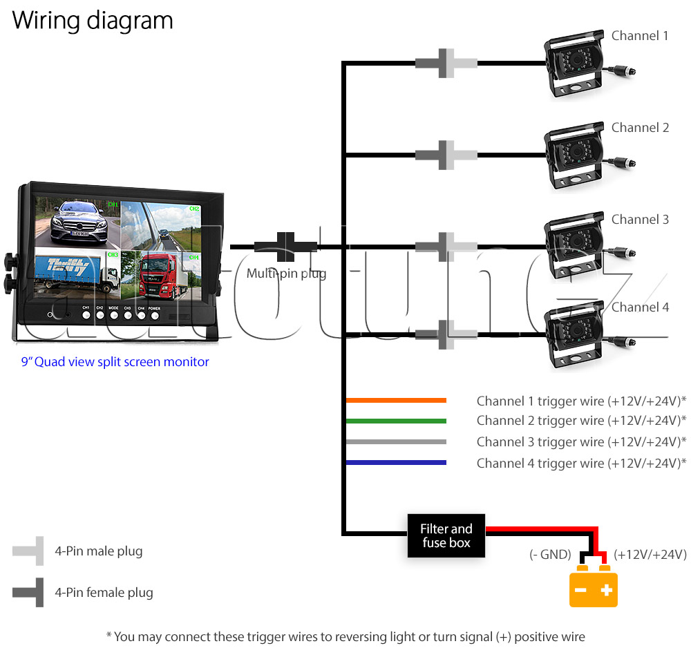 toyota 86 reverse camera wiring diagram reverse camera wiring diagram 4 pin #8