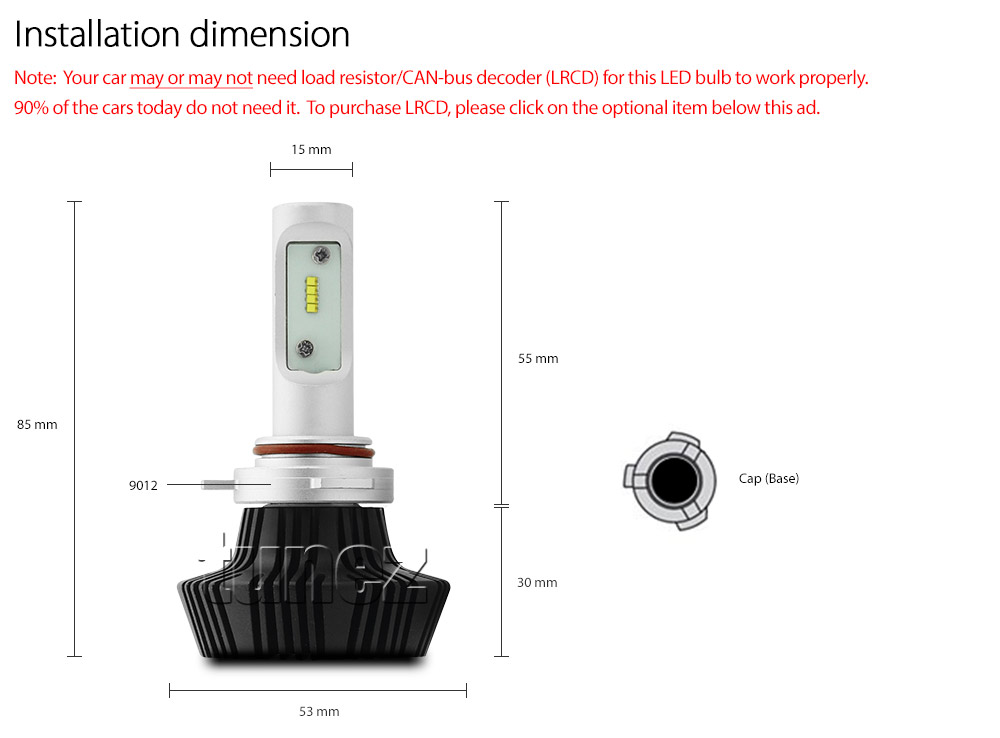 9012 HIR2 LED Philips LUXEON Lumileds Headlight Car ...