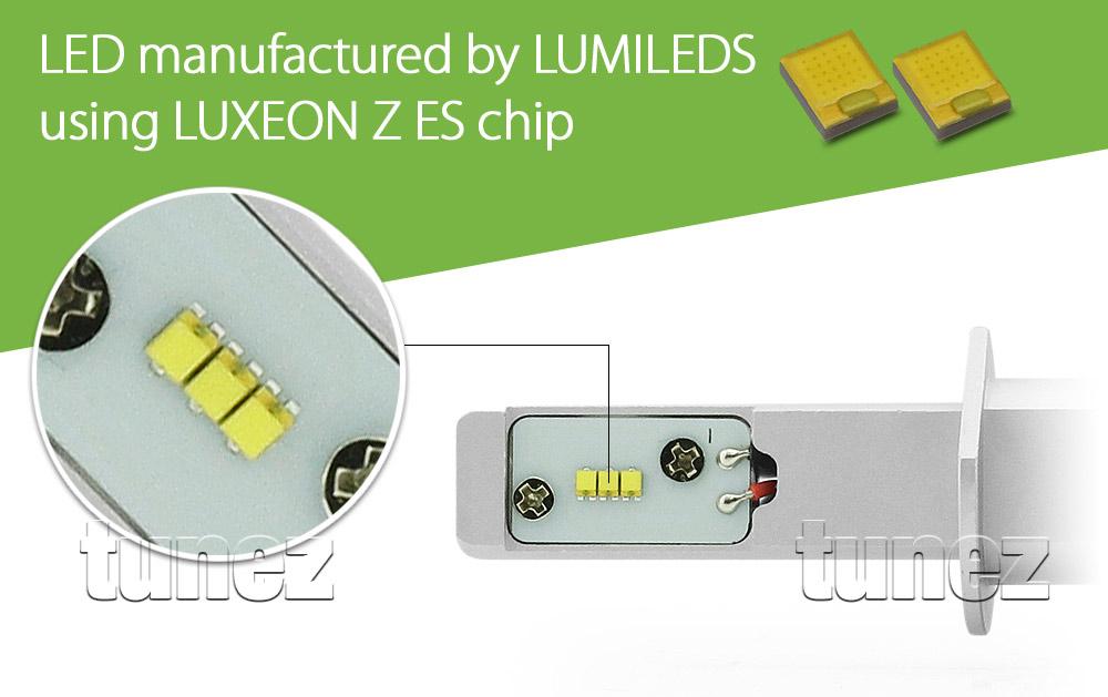 new lumileds pair h1 car led headlight bulb conversion kit. Black Bedroom Furniture Sets. Home Design Ideas