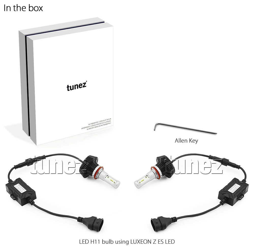 Lumileds Led H11 Car Headlight Conversion Kit Bulbs White