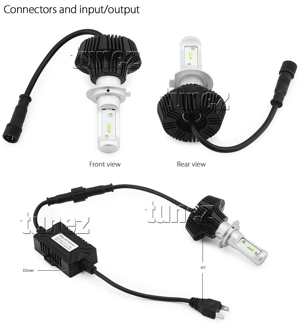 H7 Led Bulb Z1000: NEW Lumileds H7 C6 LED Car Headlight Bulbs Kit COB White