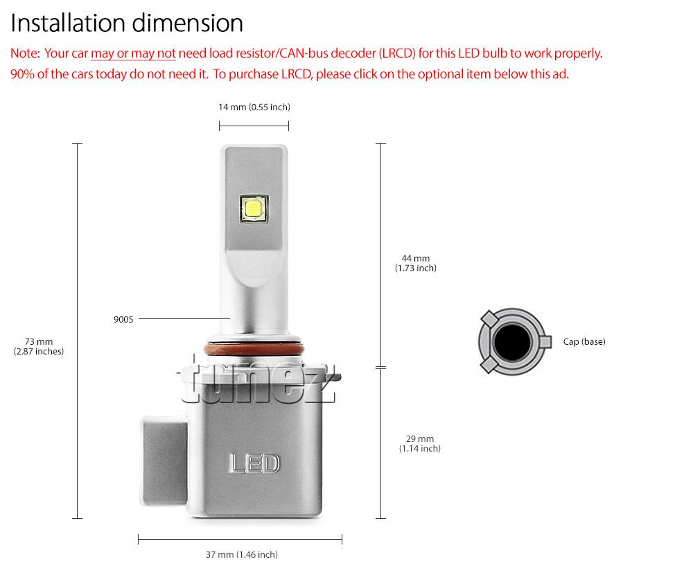 New Ledway Cree 9005 Hb3 Car Led Headlight Conversion Kit Bulbs Headlamps Wiring Diagram Ledlw9005 P20d Xlamp Xhp50 Xm L2 By Light Lamp Bulb