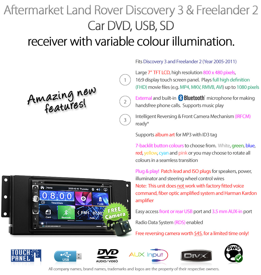 Car Dvd Player Land Rover Discovery 3 Disco Stereo Radio