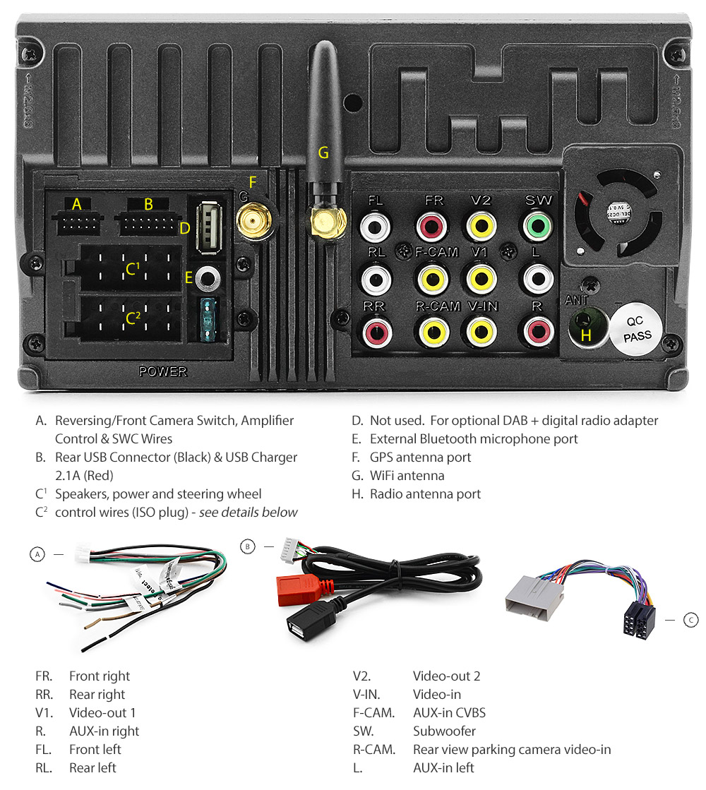 Land Rover Freelander 1 L314 Android Car Mp3 Player Stereo Head Unit Wiring Lrd10and Gps First 1st Generation Gen Year 2004 2005 2006 2007 7