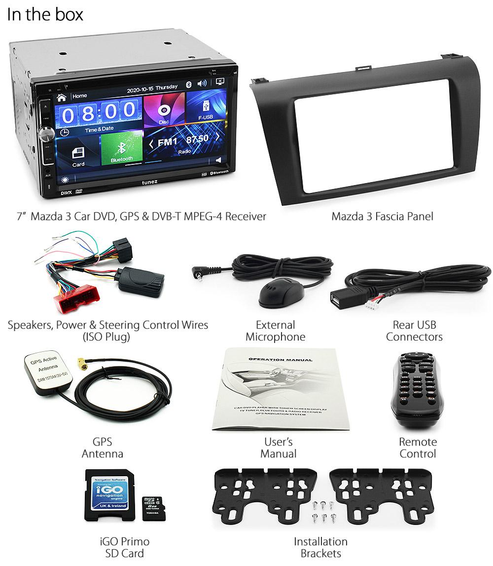 mazda 3 bk car dvd gps mp3 player stereo radio digital tv. Black Bedroom Furniture Sets. Home Design Ideas